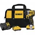 DEWALT 12V MAX Brushless 1/4in. Cordless Screwdriver Kit — 2 Batteries, Model# DCF601F2