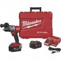 Milwaukee M18 FUEL Li-Ion Cordless Drill/Driver Kit — With 2 Batteries, 1/2in. Keyless Chuck, 2000 RPM, Model 2803-22