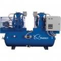 Quincy Duplex Air Compressor — 5 HP, 460 Volt, 3 Phase, 80 Gallon Horizontal, Model# 253DC80DC46