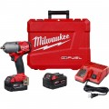 Milwaukee M18 FUEL 3/8in. Mid-Torque Impact Wrench Kit — 2 XC5.0 Extended Capacity Batteries, 600 Ft.-Lbs. Reverse Torque, Model# 2852-22