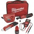 Milwaukee M12 Li-Ion Cordless Automotive Ratchet Set — 3/8in. Ratchet, LED Light Stick, Auto Voltage/Continuity Tester, Model# 2457-21NTE