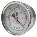 Valley Instrument Grade B Back Mount 2in. Dry Gauge — Vacuum