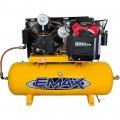 EMAX Industrial Plus 24 HP, 2-Stage, 80-Gallon, Horizontal Honda Gasoline Electric Air Compressor — Model# EGES2480ST