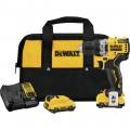 DEWALT 12V MAX Brushless 3/8in. Cordless Drill/Driver Kit — 2 Batteries, Model# DCD701F2
