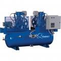 Quincy Duplex Air Compressor — 7.5 HP, 230 Volt, 1 Phase, 120 Gallon Horizontal, Model# 271CC12DC