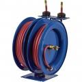 Coxreels Dual Air Hose Reel — With 1/4in. x 25ft. PVC Hoses, Max. 300 PSI, Model# C-LP-125-125